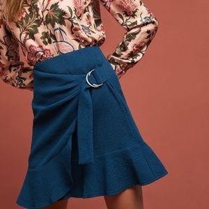 Anthropologie Turquoise Maeve Skirt